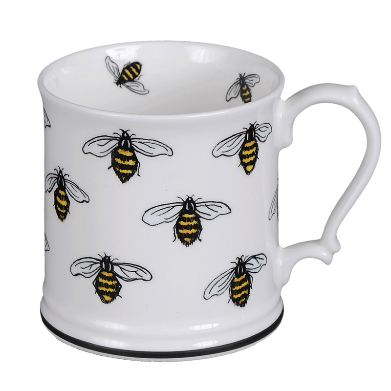 Honeybee 'Large Bees' fine bone china mug