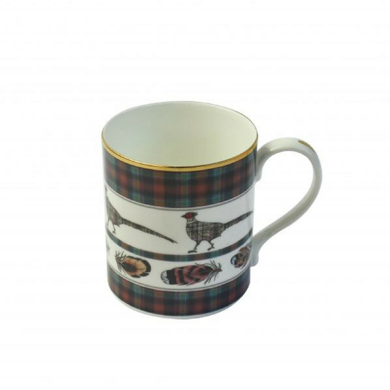Country Pursuits 'Feather/Pheasant' fine bone china mug