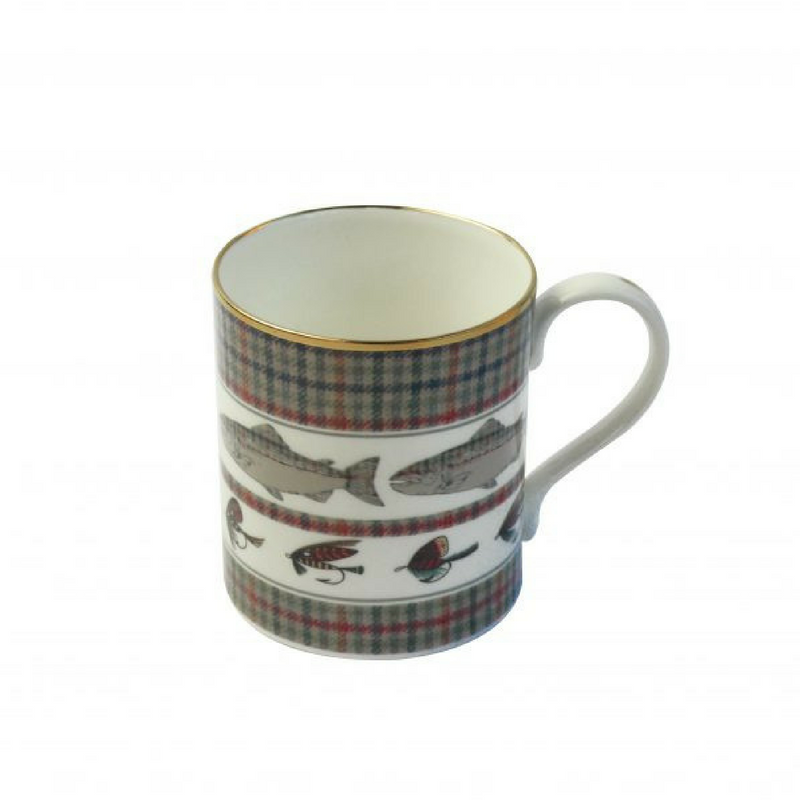 Country Pursuits 'Fish/Fly' fine bone china mug