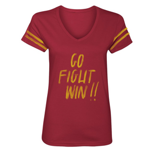 "'Go.fight.win"" ladies short sleeve shirt"