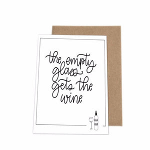 'Empty Glass' - greeting card