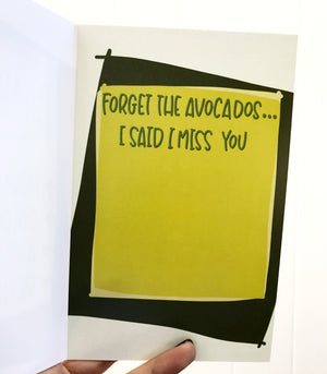 """I Hate Avocados"" - greeting card"