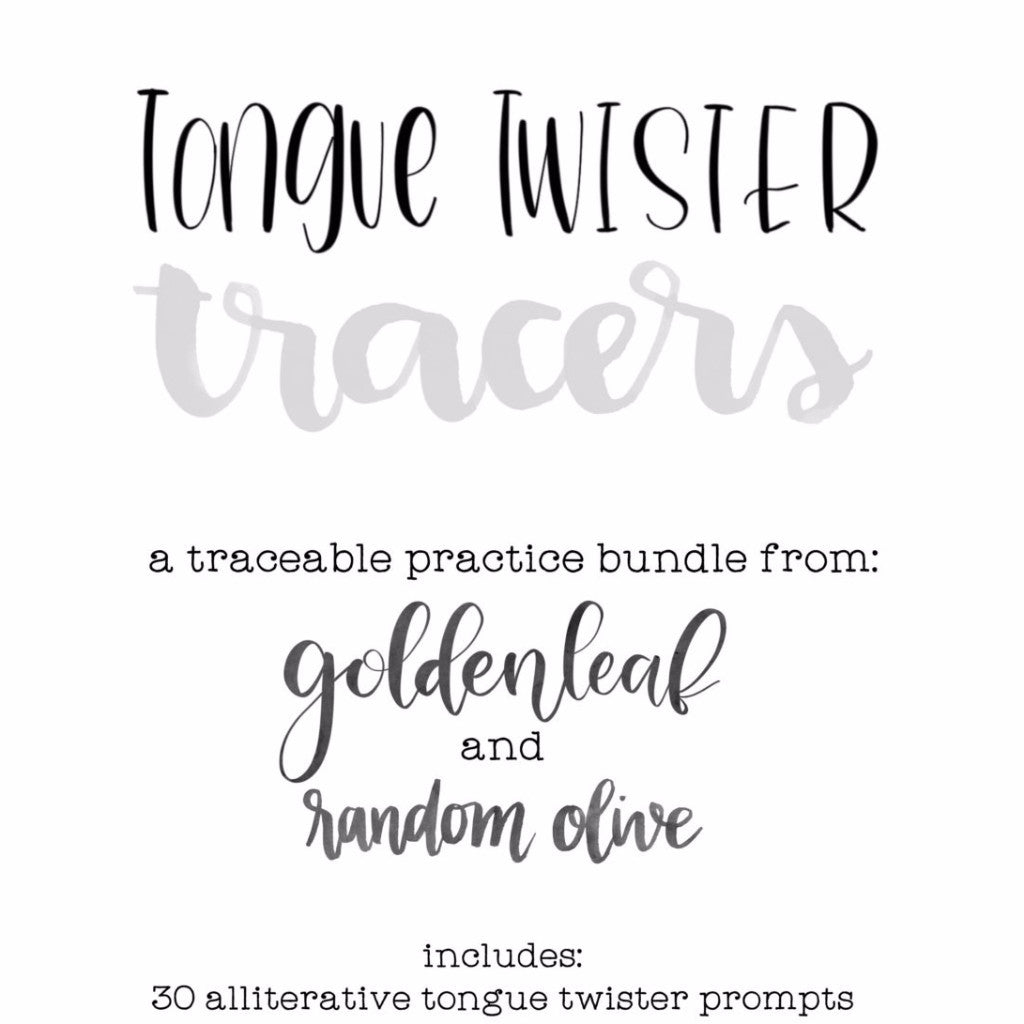 Tongue Twisters Tutorial by Random Olive & Goldenleaf