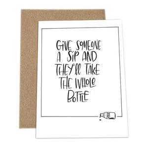 'Give Someone a Sip' - greeting card