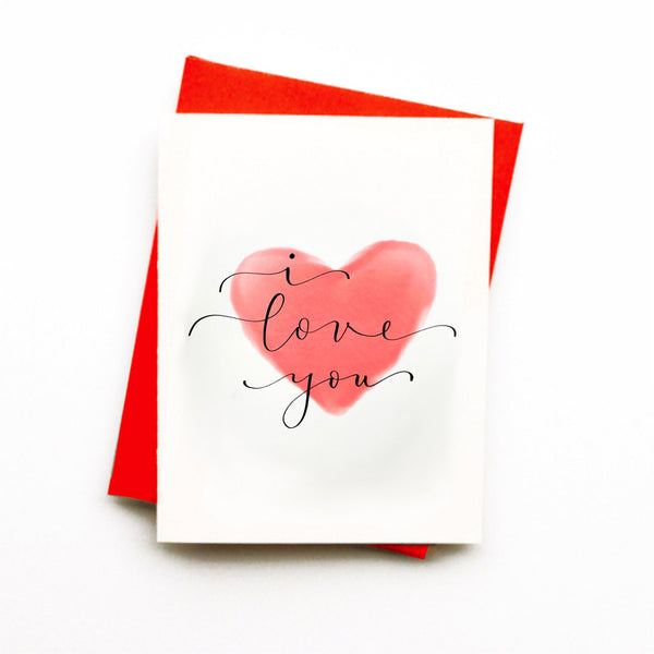 """I love You"" - greeting card"