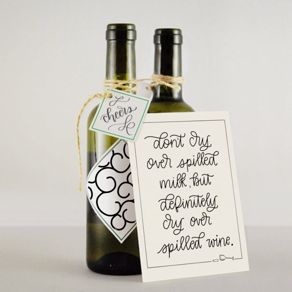 'Spilled Wine' - greeting card