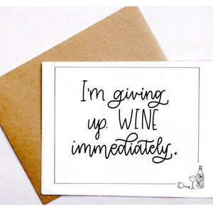 'Giving Up Wine' - greeting card