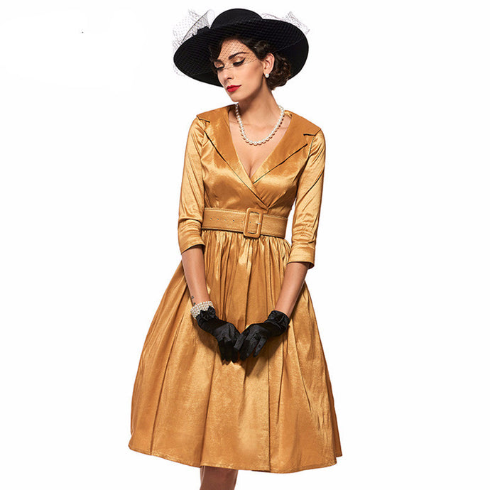 Golden Goldie Vintage Dress