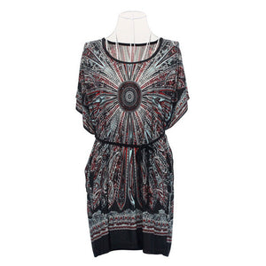 Feathered Boho Mini Dress