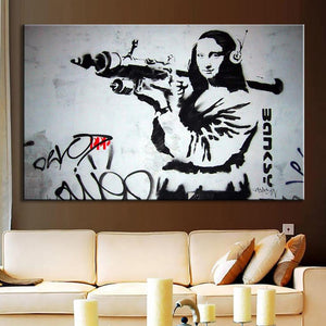 Army Monalisa Wall Art