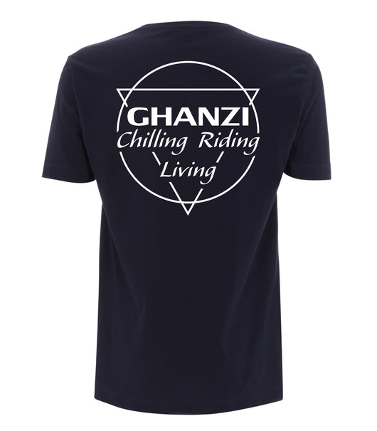 Chilling Riding Living T-shit Navy Blue Bleu Marine Shorts Sleeve Manches Courtes Ghanzi Brand GNZI