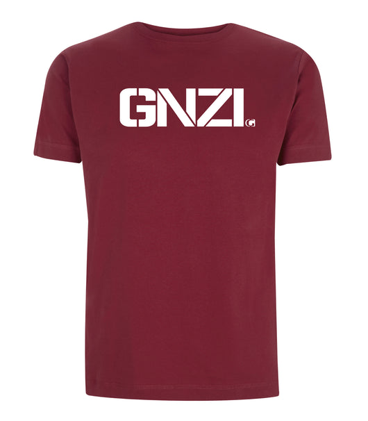 T-shirt Ghanzi Brand GNZI Burgundy Bordeaux Shorts Sleeve Manches Courtes