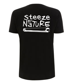 Steeze t-shirt Black Shorts Sleeve Noir Manches courtes Ghanzi Brand GNZI