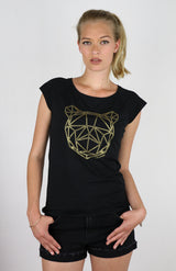 Women's BEAR TOP - Ghanzi's black t-shirt - bamboo viscose