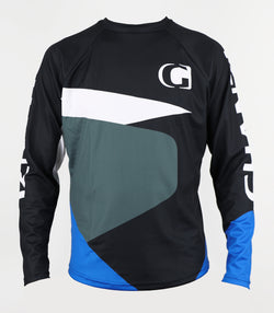 BOULDER - GHANZI Downhill and freeride jersey - Black and blue