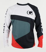 BOULDER - GHANZI Downhill and freeride jersey - White and red