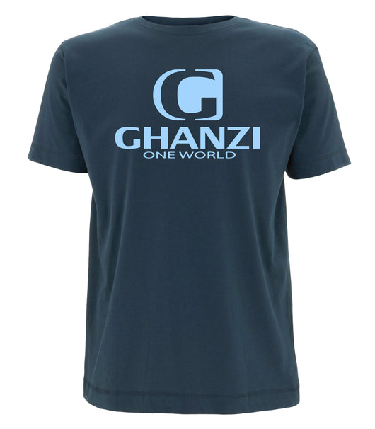 Classic Ghanzi Brand @ghanzibrand T-shirt Denim blue shorts sleeve bleu manches courtes