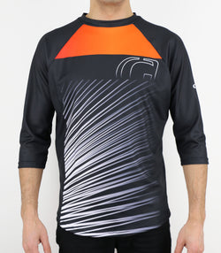 FALCON FR - DOWNHILL AND FREERIDE GHANZI JERSEY - Black / Orange