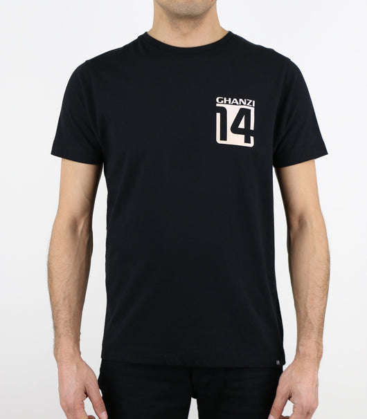 FOURTEEN - 14 - GHANZI MEN T-SHIRT - Black