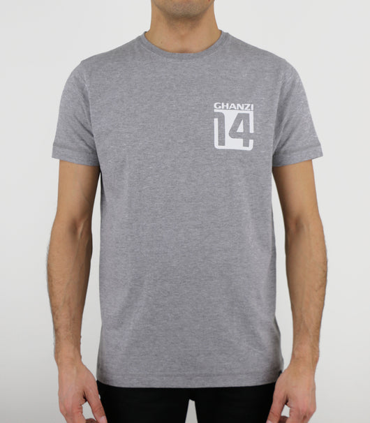 FOURTEEN - 14 - GHANZI MEN T-SHIRT - Melange grey