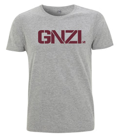 GNZI Ghanzi Brand @ghanzibrand Slim cut T-shirt Shorts sleeve Manches courte Melange grey gris chiné