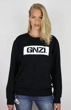 GNZI SQ - GHANZI WOMEN SWEATER Pullover - Black