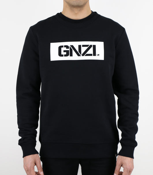 GNZI SQ - GHANZI MEN SWEATER Pullover - Black