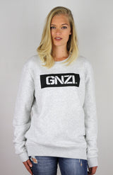 GNZI SQ - GHANZI WOMEN SWEATER Pullover - Melange white