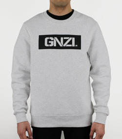 GNZI SQ - GHANZI MEN SWEATER Pullover - Melange white