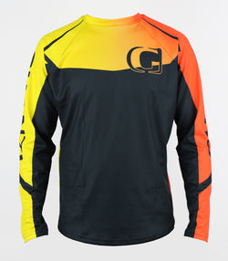 HAWK Golden Hour - Downhill and freeride GHANZI JERSEY - Black, yellow and orange