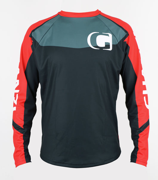 HAWK - Downhill and freeride GHANZI JERSEY - Black and red