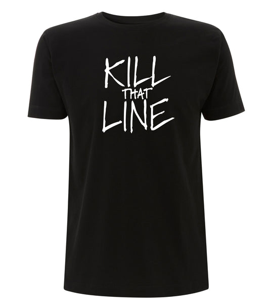 Kill That Line @killthatline #killthatline T-shirt Black noir collection Ghanzi Brand @ghanzibrand