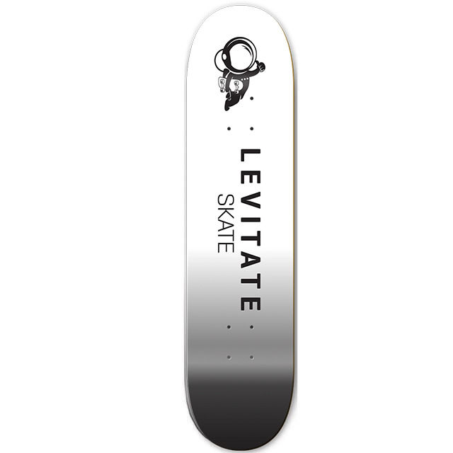 04fa94eef9 Skateboard Deck - Levitate Skate black and white
