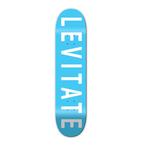 The Levitate Skate skateboard blue deck is available in 2 sizes: 8.00 and 8.25""