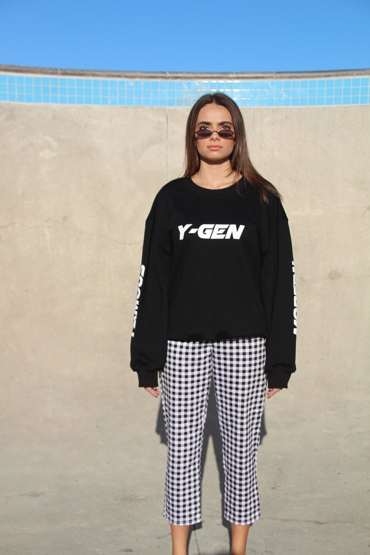 Y-GEN Black French Terry Sweatshirt,  - Levitate Skate