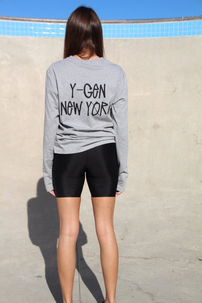 Y-GEN Grey NY Long Sleeve,  - Levitate Skate