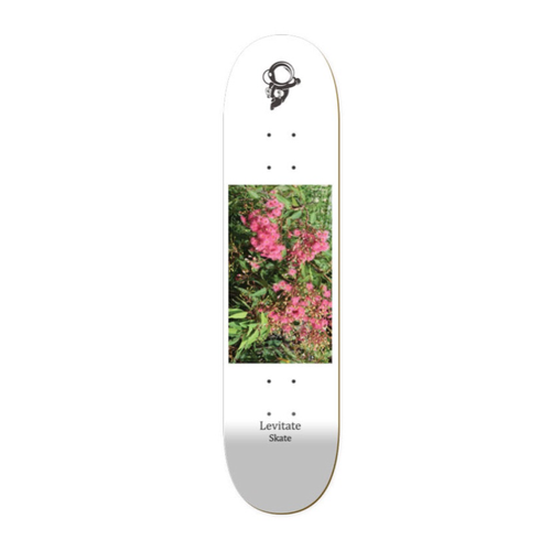 The Levitate Skate skateboard Pink Flowers deck features Australian native flowers and is available in 2 sizes: 8.00 and 8.25""