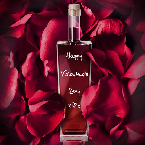 Valentine's Day Liqueur Gift Bottle