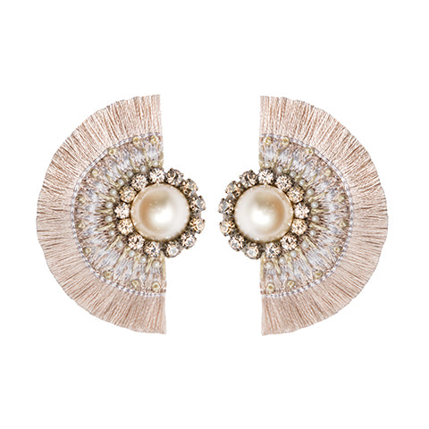 ALEAH EARRINGS - CREAM
