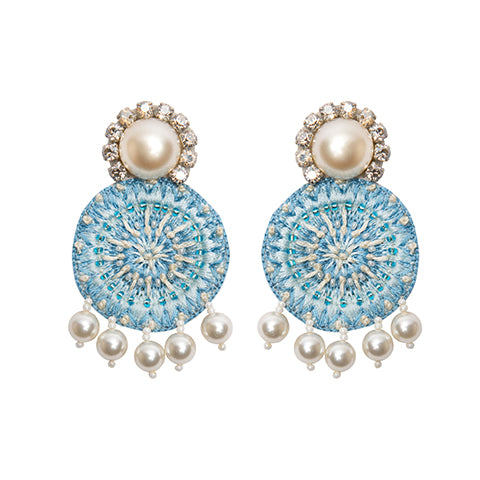 AZIZA EARRINGS - BLUE