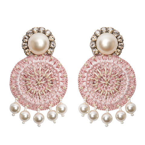 AZIZA EARRINGS - PINK