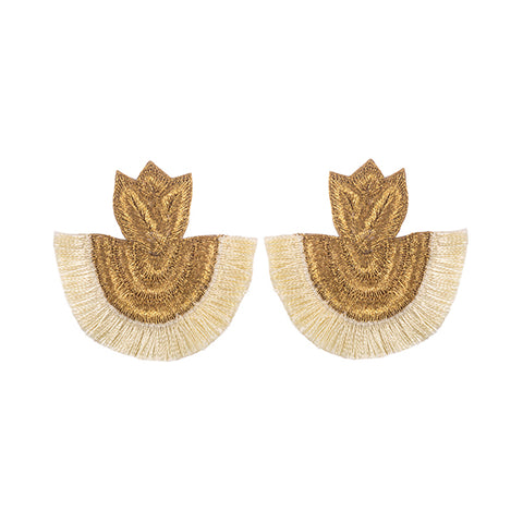 CARISSA EARRINGS - CREAM