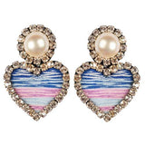 CHERYL'S HEART EARRINGS – BLUE