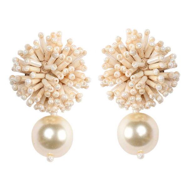 DIANE EARRINGS – CREAM