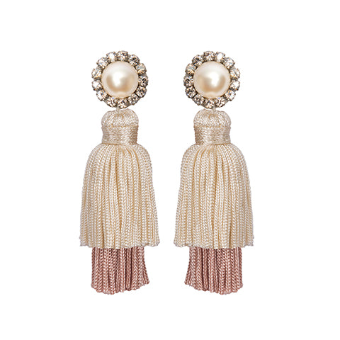 FARAH EARRINGS – CREAM/PINK