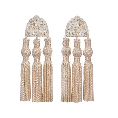 HOLLY EARRINGS - CREAM