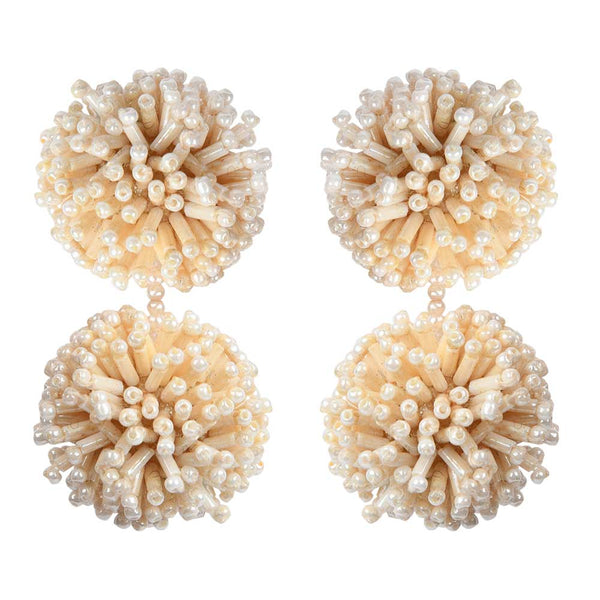IMAN EARRINGS – CREAM