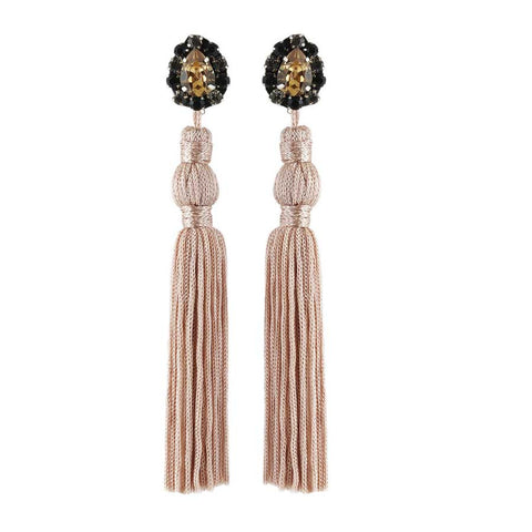 JASMINE EARRINGS - NUDE
