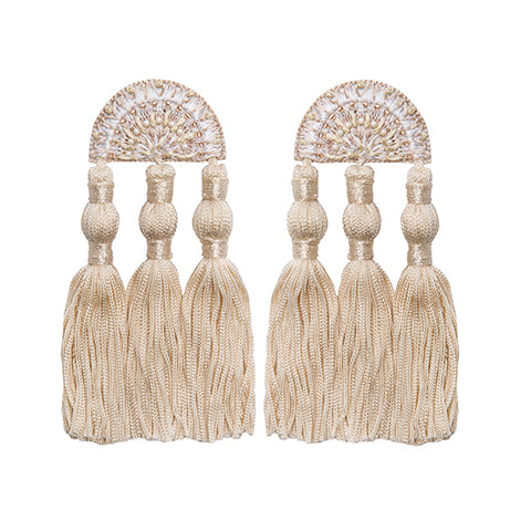 LAYLA EARRINGS - CREAM
