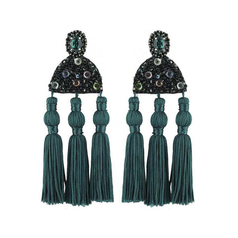 NIGELLA EARRINGS - GREEN